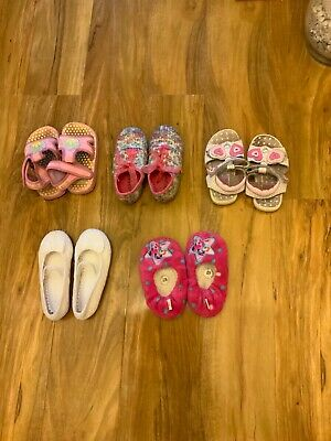 Girls Shoes/Sleepers Pink White John Lewis, Ladybird Size 6-7, 8 Five Items for sale  Shipping to South Africa