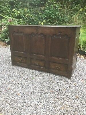 Antique Mule Chest / Collfer With Drawers Under Sn-612