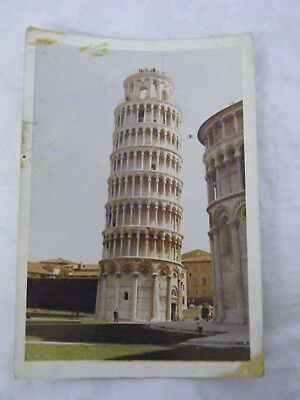 Vintage 1971 Real Photo of The Leaning Tower of Pisa in Pisa, Italy