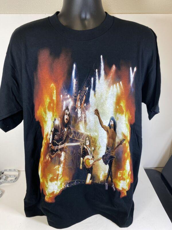 Kiss Rocks Bakersfield Farewell Shirt Size Large 2000