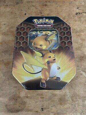 Pokemon HIDDEN FATES Factory Sealed Raichu-GX Tin (IN HAND) Fast Shipping!