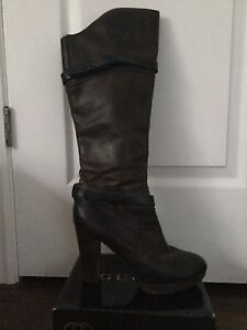 RUDSAK Dark Brown Leather Knee Boots sz. 9/39