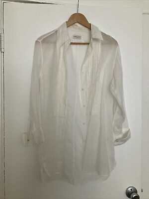 Dries Van Noten Long Sleeve Button Up Top Size 40