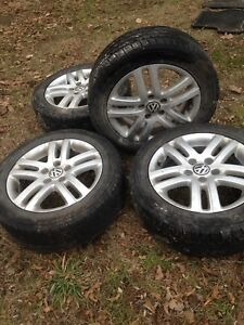 VW rims with snow tires