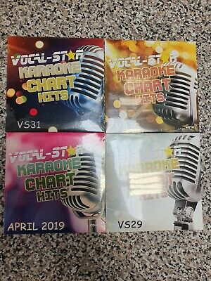 VOCAL-STAR KARAOKE HITS CDG DISC SET 72 CHART SONGS