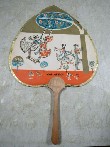 Vintage Air-India Airlines Hand Fan