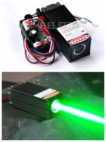 Industrial 12V Thick Beam 60mW-80mW 532nm Green Laser Dot Module w/TTL& Fan Cool