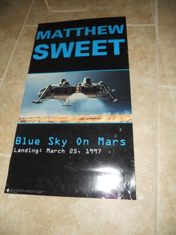 "Matthew Sweet Blue Sky On Mars Promo Music CD Poster 12"" x 22"" Rare Limited"