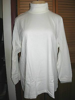3X  30W 32W  Woman Within Long Sleeve Ivory Turtleneck