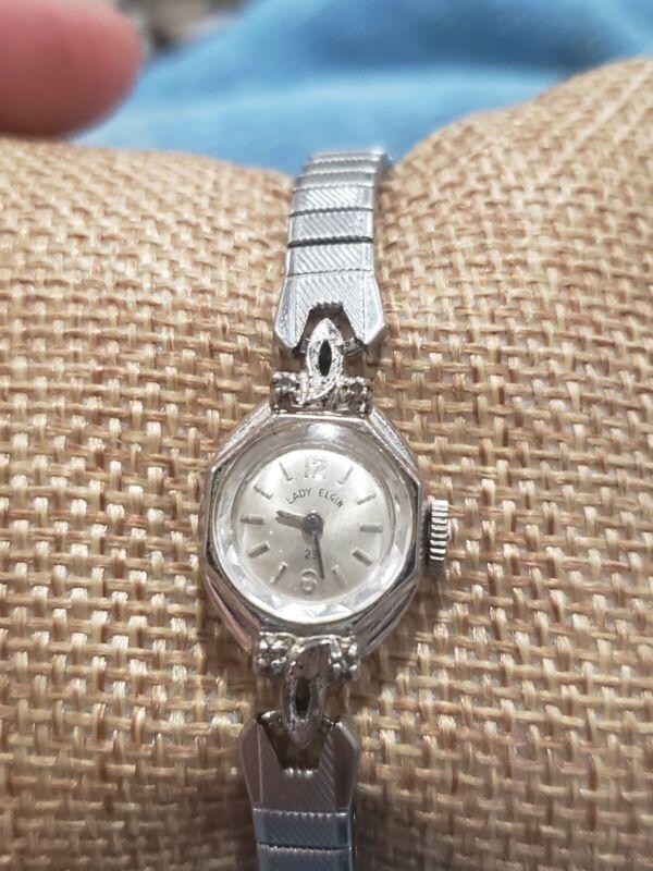 """Vintage Ladies Elgin Mechanical watch """"Lady Elgin"""" 23 working/running condition"""