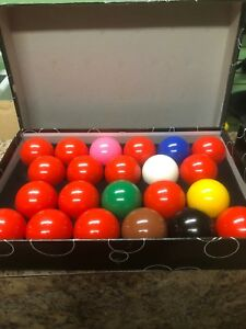"Snooker balls 2.25"" full set, used"