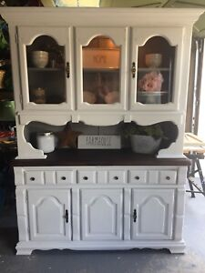 Beautifully refinished farmhouse inspired hutch