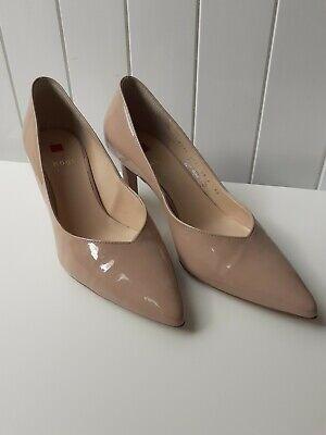 Hogl ladies shoes, patent leather, nude/beige, court/pumps, size EU 37 UK 4.5