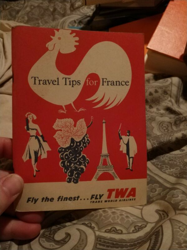 VINTAGE TRANS WORLD AIRLINES TWA TRAVEL TIPS FOR FRANCE BOOKLET
