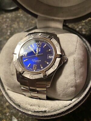 TAG Heuer Men's Professional 200 Meters Watch Blue Dial Stainless Steel WN1112