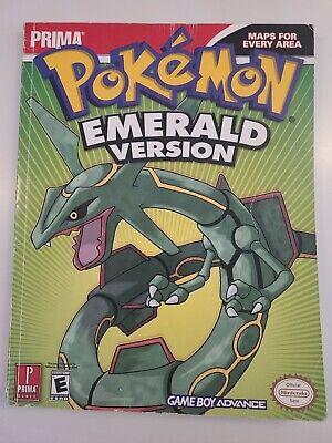 Pokemon Emerald Prima official strategy guide Nintendo GBA complete
