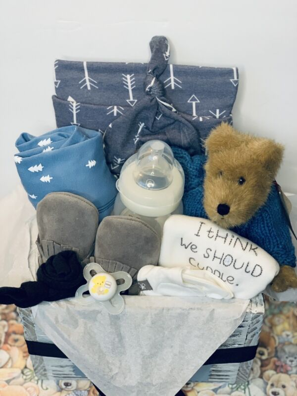 baby boy gift basket baby shower