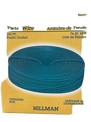 Garden Wire Green Twist Tie Reel Coated Plant Hillman -