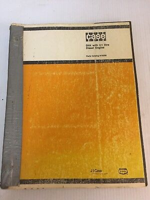 Case Dh4 Trencher W 2.1 Litre Diesel Engine Parts Book Manual Catalog