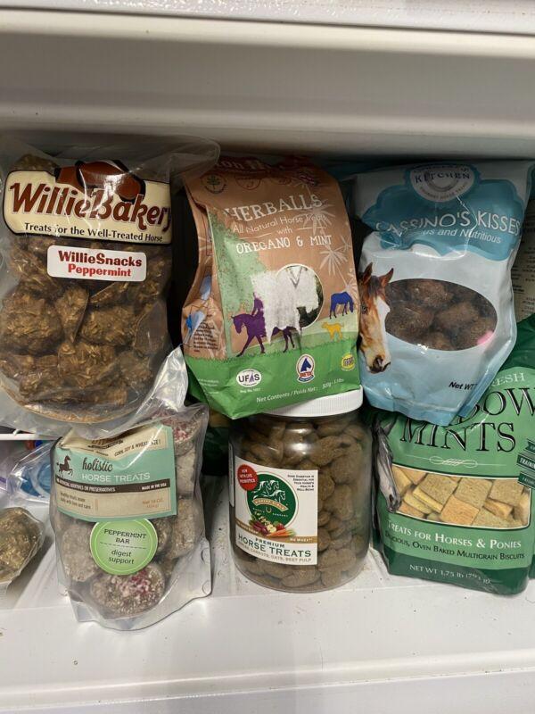 (6) Gourmet Horse Treat Lot Variety Herball Peppermint Ginger Ridge Giddyap Girl