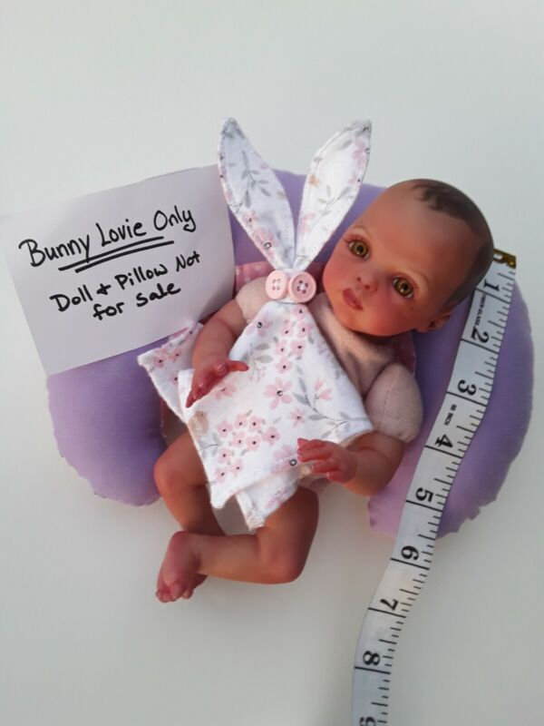 "Mini Reborn baby ""Bunny Lovie"" Accessory! Hand Made By Artist Michelle Crawford."