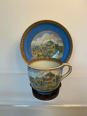 Philadelphia Exhibition Souvenir Cup and Saucer 1876