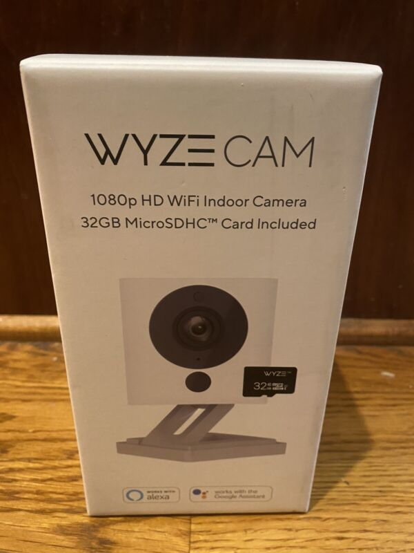 Wyze Cam V2 1080p HD Indoor Smart Home Security Camera + 32GB SD Card White New!