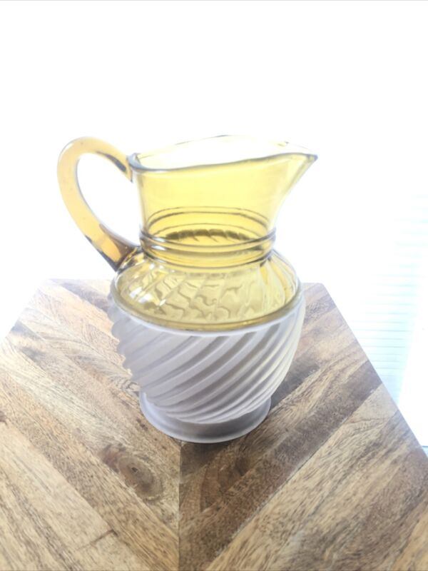 EAPG Adonis Gonterman Swirl Amber Opalescent Water Pitcher Excellent condition