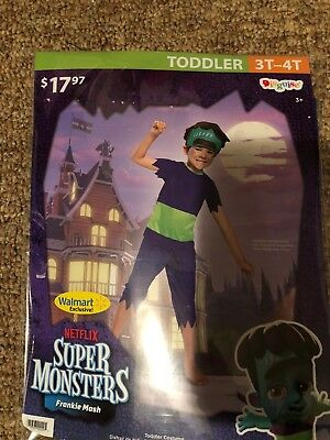 Halloween Costume Boys Toddlers Super Monsters Frankie Mash 3T-4T New