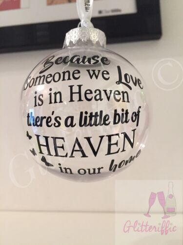 Home Decoration - X2 Someone We Love In Heaven Decal Sticker DIY Bauble Decoration