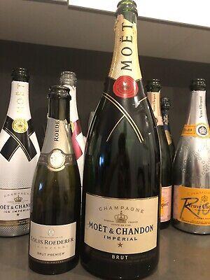 2 Champagne Empty Bottle Magnum Half Clicquot Dom Perignon Cristal Ace Spades