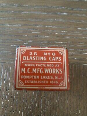M.C.MFG works blasting cap tin