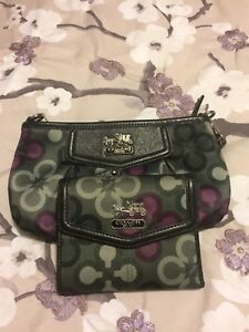 Coach small purse and wallet