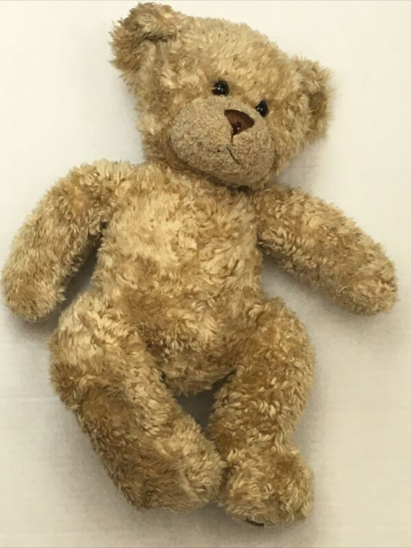 "Build A Bear Teddy 16"" Light Brown Furry Soft Plush Stuffed Animal Bear"