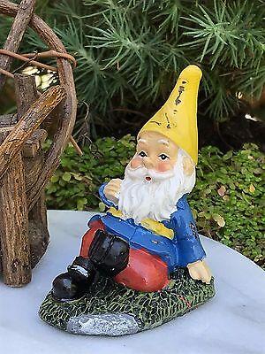 Miniature Dollhouse FAIRY GARDEN Accessories ~ Mini Gardening Gnome Relaxing NEW