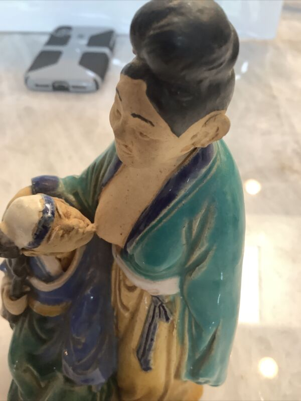 antique chinese erotic mudman figurine asian mudman oriental statue