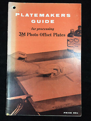 Vintage 1956 Platemakers Guide For Processing 3m Photo Offset Plates Booklet