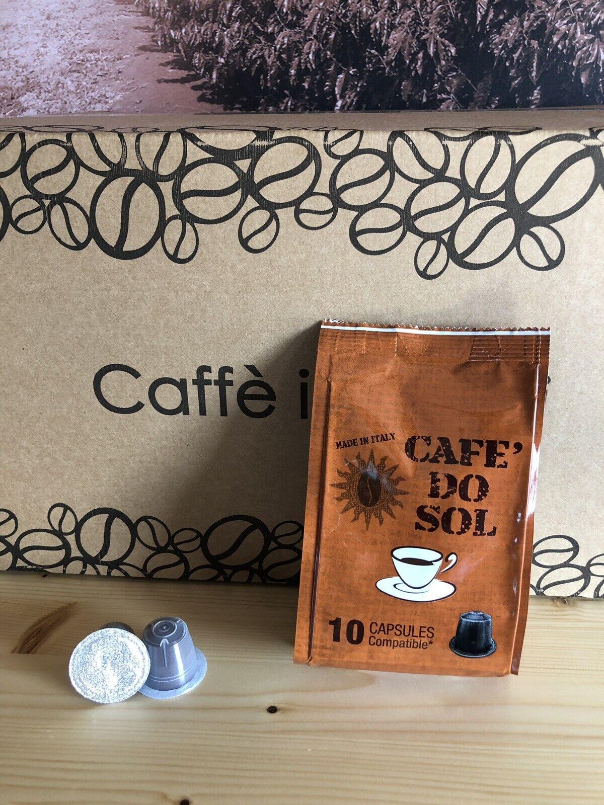 300 Capsule Cialde Caffè DoSol Compatibili Nespresso espresso nero gusto forte