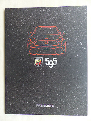 Fiat Abarth 595 Turismo Competizione - Preisliste - Prospekt Brochure 05.2017
