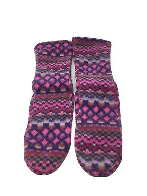 Acorn Womens Fleece Socks Pink/Purple Size Medium US