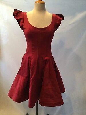 ZACPOSEN WOMEN'S MAGENTA SHORT SLEEVE DRESS - SIZE 6  for sale  Lafayette Hill