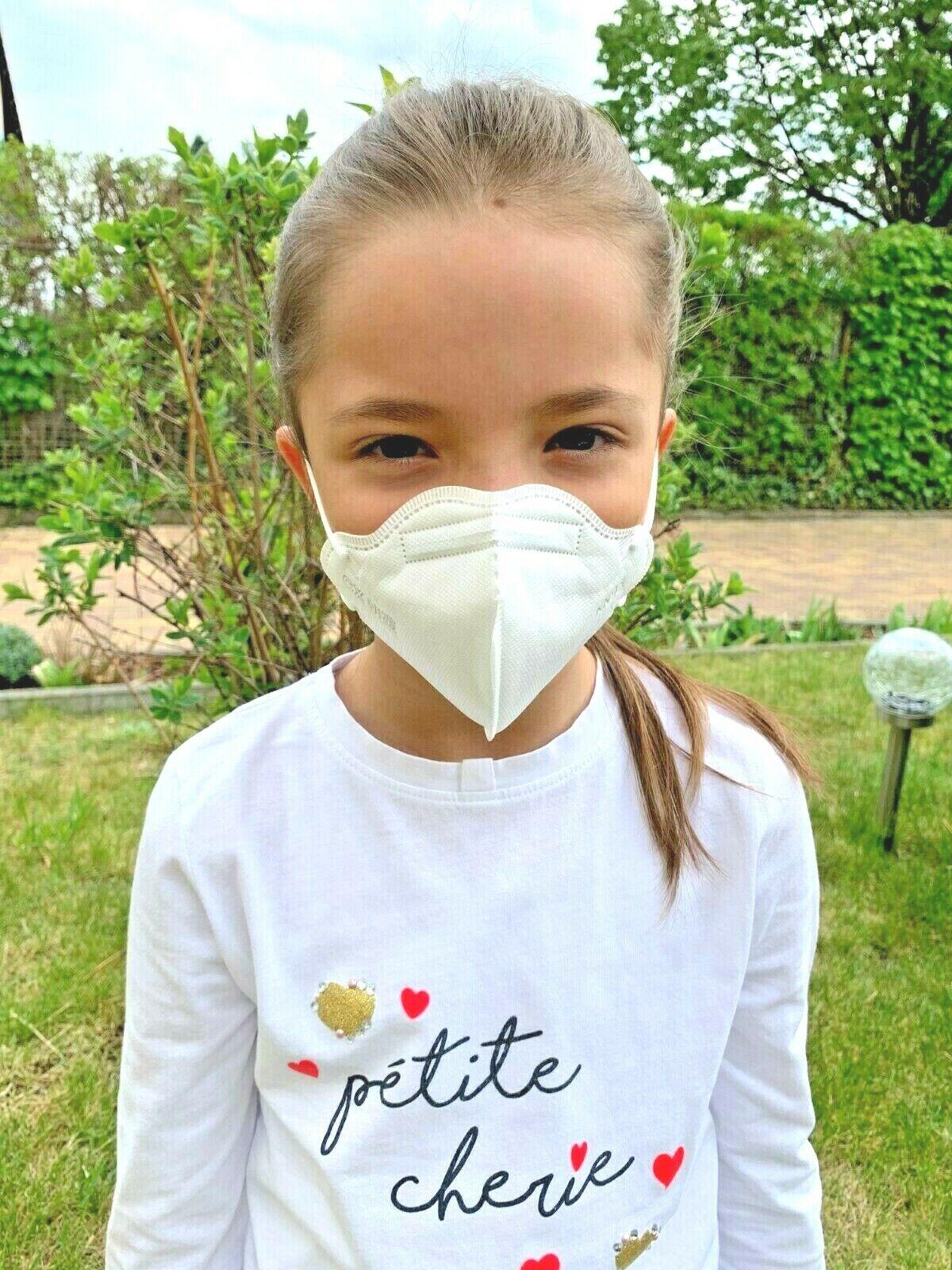 FFP2 KN95 Kinder und Einweg Mundschutz 3und 4lagig Maske Atem Schutzmaske FRISCH