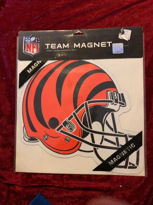 NFL CINCINNATI BENGALS FOOTBALL HELMET MAGNET HEAVY GAUGE VINYL 10 X 12 INCHES