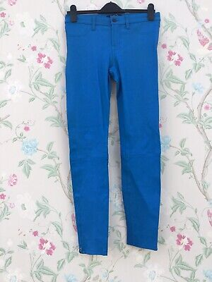 J Brand Leather Trousers Jeans Size 28 Blue