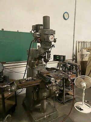 Alliant Vertical Milling Machine In Good Condition Includes Power Feed And Dro