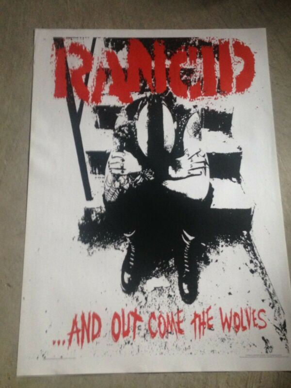 """RANCID RARE NEW POSTER 25""""x35.25"""" VINTAGE PUNK ROCK ...and out come the wolves"""