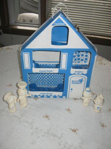 4 Vintage Pillsbury Doughboy Finger Puppets Poppin Fresh Poppie Popper Bun Bun