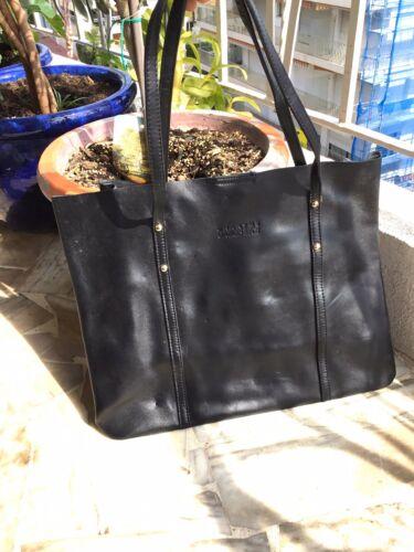 Beau grand sac cabas noir unanyme georges rech