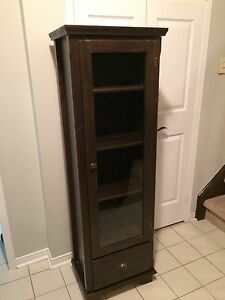 IKEA markor cabinet with glass door and bottom drawer