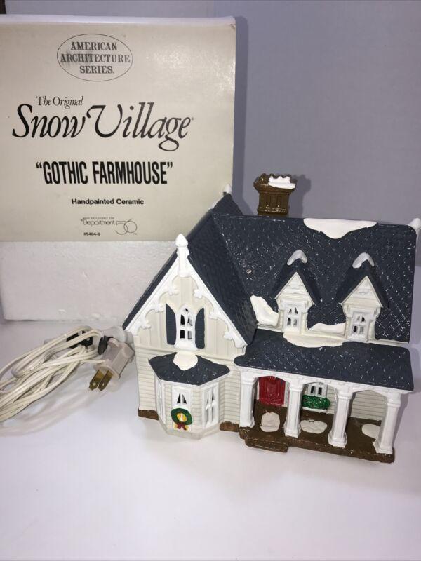 Dept 56 Original Snow Village Gothic Farmhouse 54046